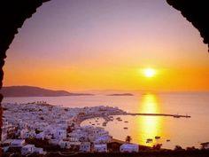 Visit Greece Mykonos Cyclades Greece Amazing Places Amazing Sunsets Beautiful Sunset