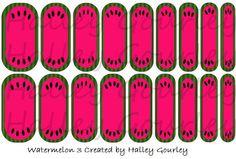 Custom Watermelon Jamberry wraps! Email for ordering details! Aydynsmom@msn.com www.beckystaples.jamberrynails.net