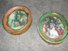 Pair Vintage Resin Florentine/ Gilt Framed Colonial by ThenForNow, $14.99