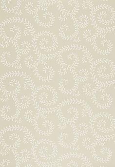 5005091 Leafy Scroll Bone by F Schumacher, Inside Fabric