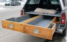 Truck bed drawers.