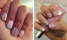 51. Easy, Simple and Beautiful Do you need a simple yet beautiful and spring design? Maybe you're all out of ideas and need some advice on jazzing up your nails. Look no further, we are here to help! Check this simple and bold design. Don't be afraid to decorate your accent nail with half glitter. …