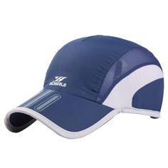 17ae80d555baa6 2018 Summer Men Breathable Mesh Cap Quick Dry Hat Bone Snapback Male  Climbing Running Sport Hats