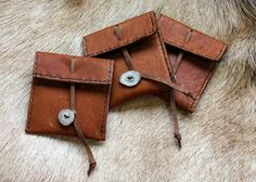 Goatskin Pouch with Deer Antler Button