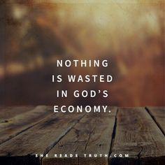 God's economy=zero wastage