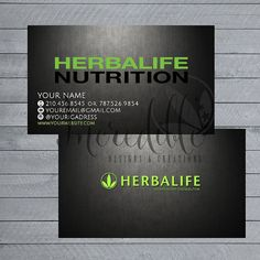 Herbalife business card Digital File by IncredibleCE on Etsy