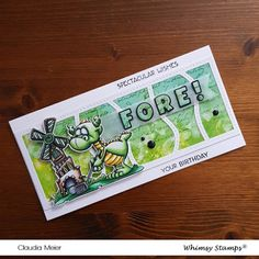 Claudia's Karteria: Fore! Your Birthday ~ Whimsy Stamps July Release Fishing Gnome, Whimsy Stamps, Fathers Day Cards, Cute Faces, It's Your Birthday, I Card, Blog, Card Making, Stamping Up