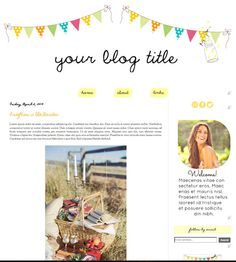 """Light, airy & very pretty """"Firefly Party"""" PreMade Blogger Blog Template. $45.00, via Etsy. https://www.etsy.com/listing/128531690/premade-blogger-blog-template?ref=shop_home_active"""