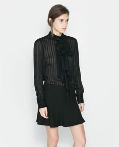 ZARA - WOMAN - SILK BLOUSE WITH BOW
