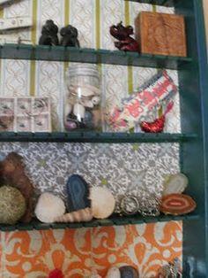 Shelf from an old cassette holder...