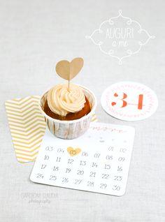Cupcake alla mela con caramello e frosting al formaggio... si, son 34! :)
