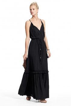 Omaria Ruffle Tiered Maxi Dress.
