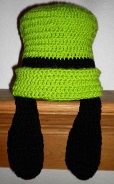 Custom crochet Goofy hat with ears photo prop by BellaRayneDesigns, $25.00    May need to make one of these. Or just buy one. ;-)