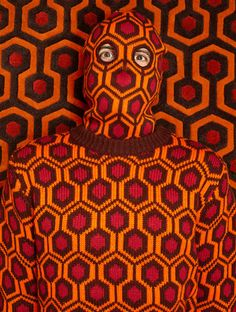 Cover yourself from head to toe in knitted cardigans, sweaters, scarves, ski masks and area rugs inspired by the carpet pattern from the Overlook Hotel in Stanley Kubrick's The Shining.