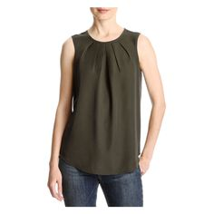 FREE SHIPPING on orders over $50. FREE RETURNS in store. Dress up your tank with pleated details at the neckline. A keyhole closure at the…
