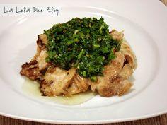 pollo a la parrilla al mojo de cilantro