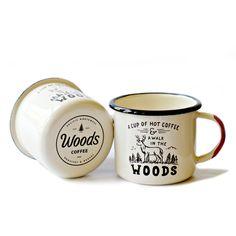 Walk in the Woods Enamel Mug | Woods Coffee
