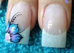 Green Nail Designs, Nail Tip Designs, French Manicure Designs, Simple Nail Art Designs, French Tip Nails, Nail Designs Spring, Fabulous Nails, Gorgeous Nails, Pretty Nails