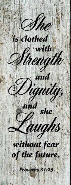 Fortaleza, dignidad y sonrisa! Eso es!
