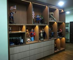 Action Figures Display Cabinet