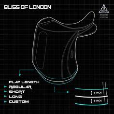 #Saddle#Flap length options www.bliss-of-london.com
