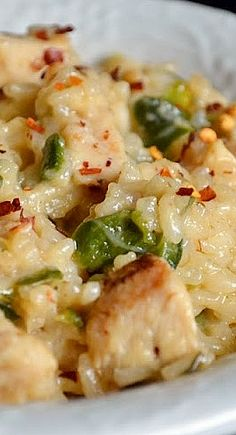 Spicy Chicken Poblano Risotto....