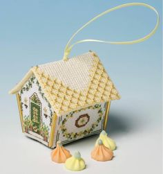 The Nutmeg Company Oranges & Lemons Gingerbread House 3D Cross Stitch Kit