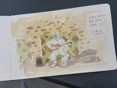 #퀵드로잉 in #바르셀로나 #야경투어 with #유로자전거나라 during #mwc2017 #그림그리는남자 #비정규직일러스트레이터 #그림스타그램🎨 #일러스타그램 #감성폭발 #일상 #펜 #수채화 #유화 #드로잉 #일러스트 #TemporaryIllustrator #daylife #pen #watercolor #oilpainting #drawing...