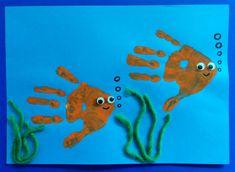 Fische aus Handabdruck