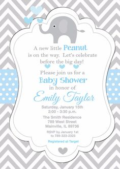 Download free template got the free baby shower invitations free elephant elephant baby shower baby boy boy baby shower invitation printable or printed with f filmwisefo