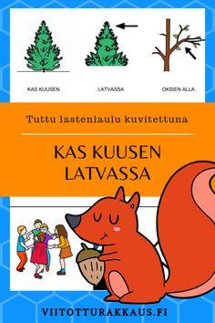 Kas kuusen latvassa oksien alla on pesä pienoinen oravalla. Teacher, Songs, Education, Weights, Professor, Onderwijs, Song Books, Learning
