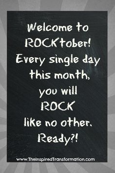For those about to rock.... #october #rock #motivation #transformation #inspire