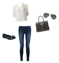 """""""Eleanor #1"""" by princess42297 ❤ liked on Polyvore featuring Forever New, J Brand, Dune, Mulberry and Ray-Ban"""