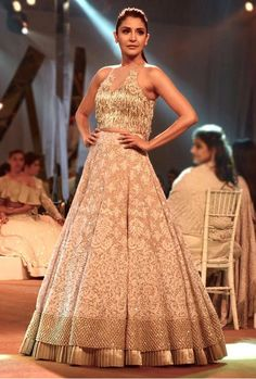 Chikinkari Lengha by Manish Malhotra for Summer Couture 2017