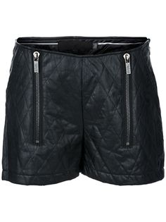 KARL KARL LAGERFELD Quilted Leather Shorts