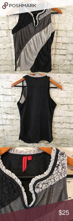 Anthropologie Gray Sleeveless Top Size Small Anthropologie ONE. SEPTEMBER Gray Color Block Sleeveless Top Blouse Small    Measurements: Armpit to Armpit: 18 Length: 24   Top is in very good used condition, shows no signs of tears, stains, or excessive wear    ✨Offers Welcome✨ 💕Bundles = 15% off and a free gift! 💕 Sorry no trades Anthropologie Tops Tank Tops