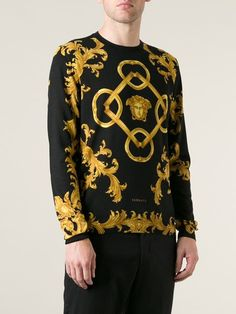 Versace Baroque Sweater - Luisa Boutique - Farfetch.com Latest Mens  Fashion, Street Wear a4170a4cc42