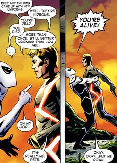 johnny storm and peter parker in fantastic four #601 (2012)