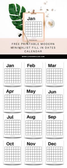 calendar any year