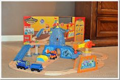 wooden train mountain - Hledat Googlem Wooden Train, Toy Chest, Storage Chest, Toddler Bed, Mountain, Toys, Furniture, Home Decor, Child Bed