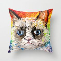 Grumpy Cat pillow. | 27 Brilliant Grumpy Cat Items For Sale Online