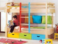 Beliches nos quartos de criança