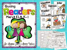 Mrs Jump's class: Guiding Readers for March No Prep, Print & Go Lesson Planning made easy. Reading, Phonics, Comprehension, Word Work & More!  NOTE: This isn't a packet of worksheets. These are actual Lessons that guide you through the process of using Read Alouds to teach the standards for Reading and Phonics.