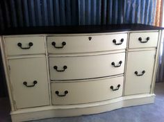 Antique buffet painted by A to Z Custom Creations with La Craie's Baguette.