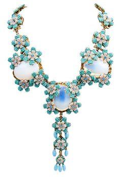 Glass Necklace, 1950's, Stanley Hagler N.Y.C.