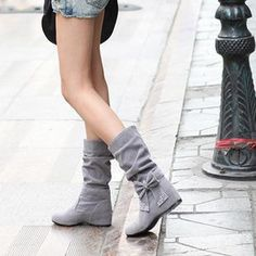 grey and with a bow...perfect for Fall