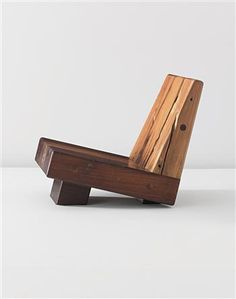 Zanini de Zanine  'Trapezio' low chair, from the 'Reclaimed Woods' series, 2010