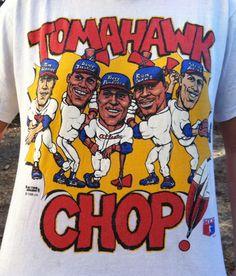 1990s Atlanta Braves Tomahawk Chop Tshirt