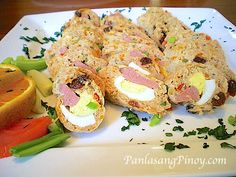 Embutido is a type of meatloaf prepared Filipino style. Though a well known dish for the holidays, Embutido can be enjoyed everyday Filipino Dishes, Filipino Recipes, Asian Recipes, Ethnic Recipes, Filipino Food, Filipino Desserts, Asian Foods, Filipino Christmas Recipes, Pork Recipes