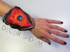 bracciale di stoffa cuore b2 di decorandom su Etsy